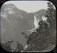 Glass Magic Lantern Slide HARDANGERFJORD SKJAEGGEDALSFOS NO1 C1888 PHOTO NORWAY