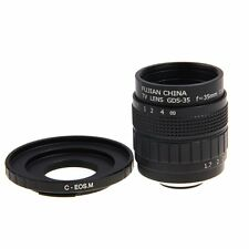 Fujian 35mm F1.7 CCTV Movie lens +C Mount to Canon EOS M M2 M3 Mirrorless Camera