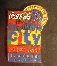 1996 Coca Cola Atlanta Olympic City Pin Coke For The Fans Grand Opening nice