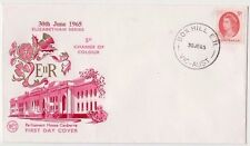 Stamp Australia 5d red QE2 on WCS Wesley brand FDC enhanced by Hawker, scarce