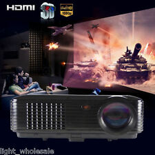 Home Cinema 3500 Lumen HD LED Projector 1080P HDMI USB TV Film Theater DVD Game