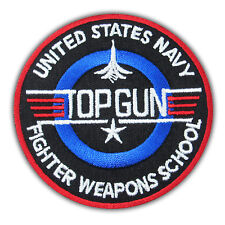 Top Gun US Navy Maverick Embroidered Iron on Patch Applique Fight Movie Costume