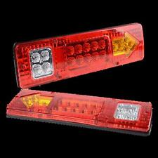 2X 19 LED Trailer Truck RV ATV Turn Signal Running Tail Light #M White-Amber-Red