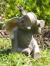 SITTING BABY ELEPHANT GARDEN ORNAMENT. LATEX MOULD/MOULDS/MOLD