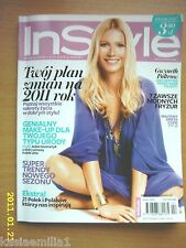 GWYNETH PALTROW on cover In Style 2/2011 polish magazine