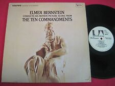 SOUNDTRACK LP - THE TEN COMMANDMENTS - ELMER BERNSTEIN - UA -LA304-G STEREO VG+