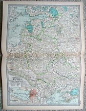 Original 1897 Map of Russia in Europe - Western & Southern Parts  The Century Co