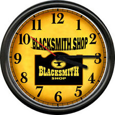 The Blacksmith Anvil Farrier Iron Worker Metal Tools Art Sign Wall Clock