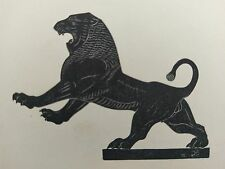 Eric Gill original wood engraving, The Lion, limited edition 1929