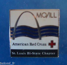 Pin's pin RARE LA CROIX ROUGE AMERICAINE - AMERICAN RED CROSS ST LOUIS (ref L08)