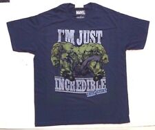 Marvel Comics Movie Incredible Hulk Men's Navy Blue T-Shirt Tee Size Large NWT