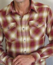ExOfficio Shirt Plaid Polyester Button Front Long Sleeve Mens S