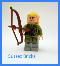Lego Lord of the Rings Hobbit - Legolas Minifigure and Elven Long Bow 9473 - VGC