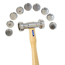 TEXTURING HAMMER with 9 INTERCHANGEABLE HEADS DESIGN TEXTURE METAL WORK TOOL SET