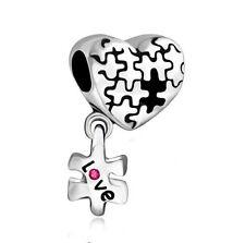 hot European Silver CZ Charm Beads Fit sterling 925 Necklace Bracelet Chain ja14