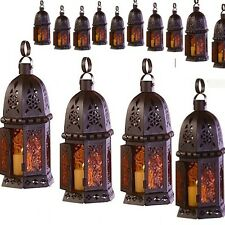 15 Moroccan Style Lantern Candle Holder Amber Wedding Centerpieces
