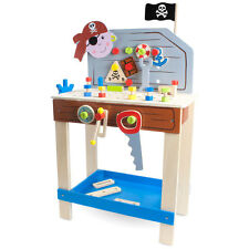 Ultimate Pirate Work Bench Wood Kids Toy Set w/ Toy Tools- Wooden Wonders