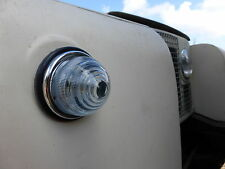 Landrover Series 1 2 L594 Combined Indicator stainless Sidelight Glass Lens Unit