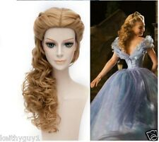 Ladies Cosplay Cinderella theatrical style synthetic brown fashion hair wig UK