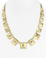 NWT Marc Jacobs Standard Supply Giant Stud Gold Cream Link Statement Necklace