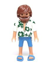 Playmobil Figure Dollhouse Vacation Summer Dad Man Hawaiian Shirt Beard Sandals