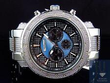 Mens Jojo/Jojino XL Big Face Stainless Steel 52 MM 0.25 Ct Diamond Watch MJ-1213