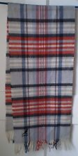 Women's WOOL Gray Red Plaid Scarf KANGOL ENGLAND