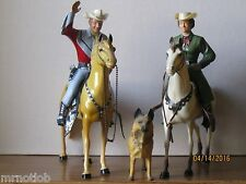 VINTAGE 1950's HARTLAND ROY ROGERS and TRADITIONAL DALE EVANS w/BULLET COMPLETE!