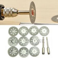 12 x Rotary Tool Circular Saw Blades Cut Wheel Discs Mandrel Dremel Cutoff