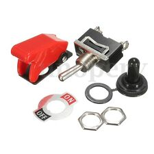 Heavy Duty ON/OFF SPST Toggle Switch Flick & Missile Cover & Waterproof Boot KIT