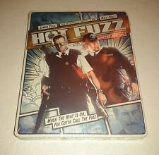 HOT FUZZ Limited Blu-Ray SteelBook Simon Peg Nick Frost Comic OOP Sold Out Rare!