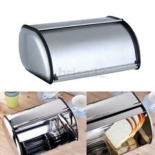 Stainless Steel Bread Box Storage Bin Keeper Food Kitchen Container 34*21*14.5CM