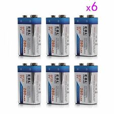6 Pack EBL 280mAh 9V 9 Volt 6F22 Ni-MH Nickel Metal Hydride Rechargeable Battery