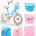 Girls Bicycle Front Basket Bow Flower Shopping Childs childrens Kids Bike NEW