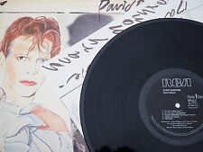 """DAVID BOWIE SCARY MONSTERS 1980 UK PRESS 12"""" VINYL RECORD ALBUM WITH INSERTA3/B4"""