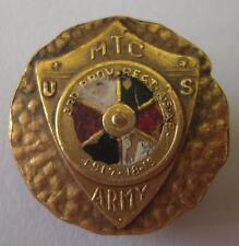 WW1 US Army Odd MTC Badge / Gilt Collar Disk - 3rd Prov. Regt A.S.A.P.