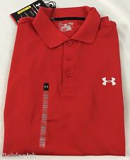 Under Armour MEN'S Athletic Golf Polo Loose Heat Gear Red Size XL