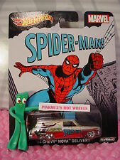 2015 Marvel '64 CHEVY NOVA DELIVERY wagon✰Spider-Man✰Gold;red✰Hot Wheels Pop
