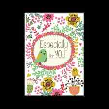"""Card - """"Especially for YOU"""" birds, flowers & hearts"""