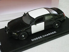 First Response 1/43 Dodge Charger Police Car Blank B&W W/Accessories (DC208)