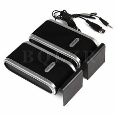 Mini USB Power Stereo Speaker System for Computer Laptop PC Black