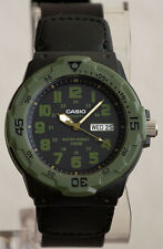 Casio MRW-200HB-1BV Analog Watch Cloth Band Day and Date Neo Display 100m W