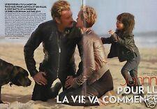 Coupure de presse Clipping 2011 Johnny Hallyday & Laeticia  (8 pages)
