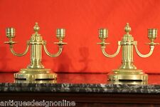 Pair Antique Gold gilt bronze ORMOLU CANDELABRA French Louis XVI superb quality