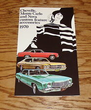 1970 Chevrolet Chevelle Monte Carlo Nova Features Accessories Sales Brochure 70