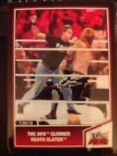 2013 Topps Best of WWE #32 The APA Clobber Heath Slater RED Mint