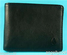 NIXON CAPE WALLET MENS BLACK REAL LEATHER Bi Fold BRAND NEW Rrp $59.95