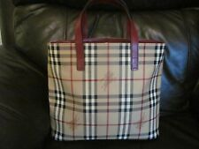 new burberry classic check 1990s tote bag