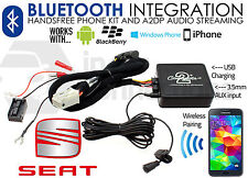 Seat Bluetooth streaming handsfree calls CTASTBT002 AUX USB iPhone Sony Samsung