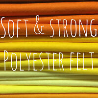 Polyester Felt - Soft and Strong - 51 colours available - EN71 certified
